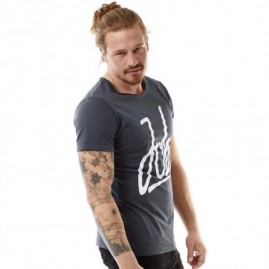 Jobe Script T-Shirt Men Graphite Grey