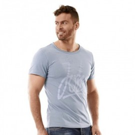 Jobe Script T-Shirt Men Fog Blue