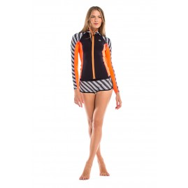 GLIDESOUL VIBRANT STRIPES 1 MM JACKET Print/Black/Peach