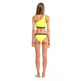 GLIDESOUL ONE SHOULDER BIKINI TOP Lemon