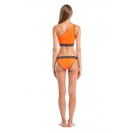 GLIDESOUL SIGNATURE COLLECTION ONE SHOULDER BIKINI TOP Peach