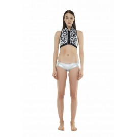 GLIDESOUL 0.5 MM CROP TOP Leopard/ Silver/ Black