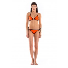 GLIDESOUL SIGNATURE COLLECTION BRA WITH LACES Peach/ Black