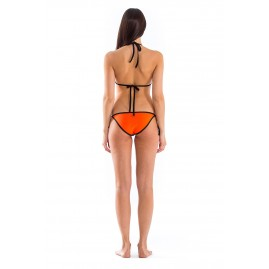 GLIDESOUL SIGNATURE COLLECTION BIKINI BOTTOM WITH LACES Peach/ Black