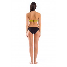 GLIDESOUL HALTER BIKINI TOP 0.5 MM Leopard/ Lemon