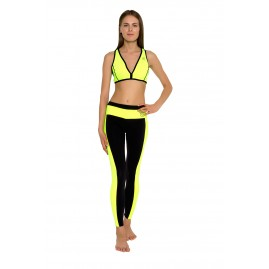 GLIDESOUL RACERBACK TOP Lemon/Black