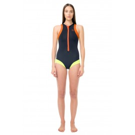 GLIDESOUL SURF STYLE ONE PIECE SWIMSUIT Black/ Peach/ Lemon