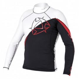 Mystic Arrow Rash Vest L/S | Black/Red