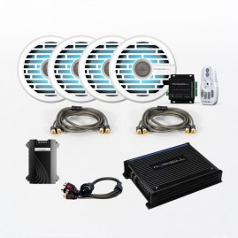 "Roswell Marine Audio R1 6.5"" In-Boat Speaker & RGB Controller Package - White"