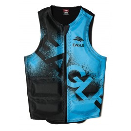 Masterline Eagle Overspray Mens Water Ski Vest-Blue