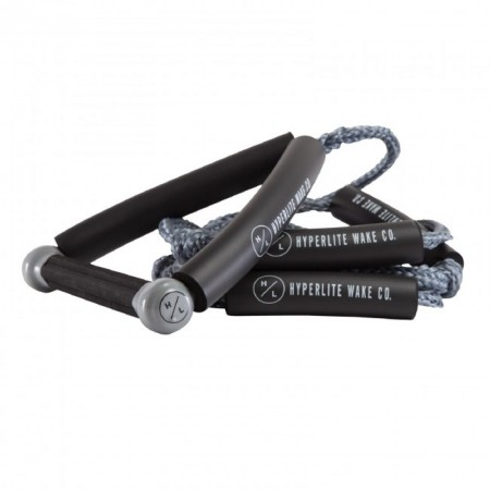 Hyperlite 20' Ft Surf Rope w/Handle Package - Grey