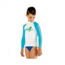 Cressi Rash Guard Long Jr Blue Octopus