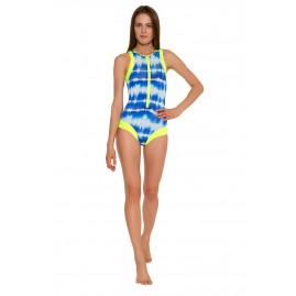 GLIDESOUL TIE&DYE COLLECTION SURF STYLE ONE PIECE SWIMSUIT