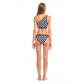 GLIDESOUL VIBRANT STRIPES COLLECTION ONE SHOULDER BIKINI TOP