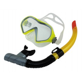 Gobby Set Snorkelling Mask Yellow