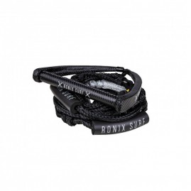Ronix Surf Rope Spinner PU Synthetic w/10'' Handle w/25ft Rope Package - Black