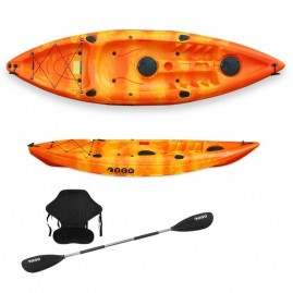 Conger single seat fishing kayak SCK with paddle and backrest