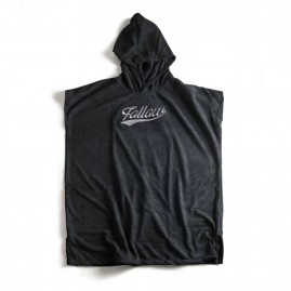 Follow Hooded Towelie Poncho - Black