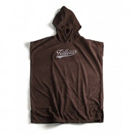 Follow Hooded Towelie Poncho - Brown