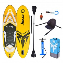 ZRAY X-rider 9'9'' SET Inflatable SUP board with double paddle and bacrest