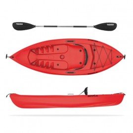 Seaflo Fat Boy single seat kayak with paddle Red