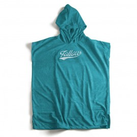 Follow Hooded Towelie Poncho - Teal