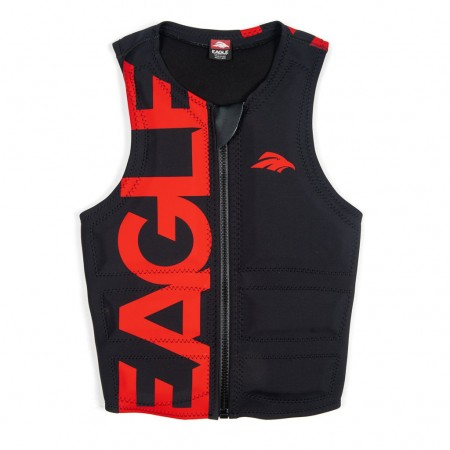 Masterline Men's Eagle Pro Logo Vest Black/Red