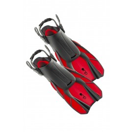 Ocean Reef Duo Travel Ready Fins Red