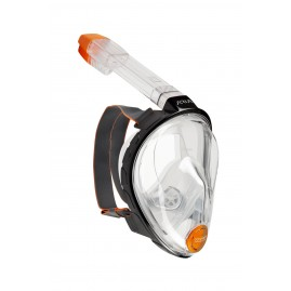 ARIA FULL FACE SNORKELING MASK Clasic-Black/Frosted White