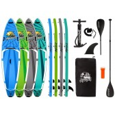 """AQUALUST 10'8 """"CRUISER SUP Board Stand Up Paddle Surf Board ISUP Kayak Paddle and Leash"""